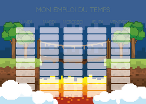 Planning Scolaire Pixel Pont - Chouette Cards