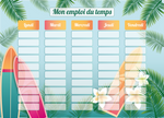 Planning Scolaire Surf Girl - Chouette Cards