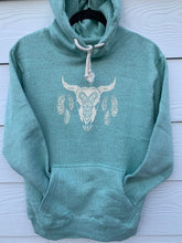 Load image into Gallery viewer, Sisters Boho Bull on Nantucket Fleece