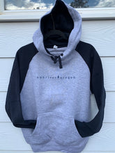 Load image into Gallery viewer, Sunriver Oregon in small type face font pullover hood