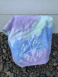 Tiedye Blanket with PNW