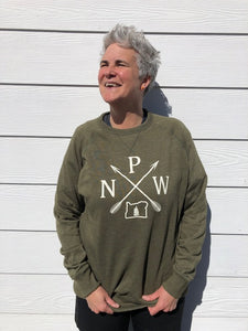 PNW on French Terry Crew Neck Pullover