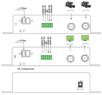 2 Ch SDI & 1 Ch data to fiber Converter-4