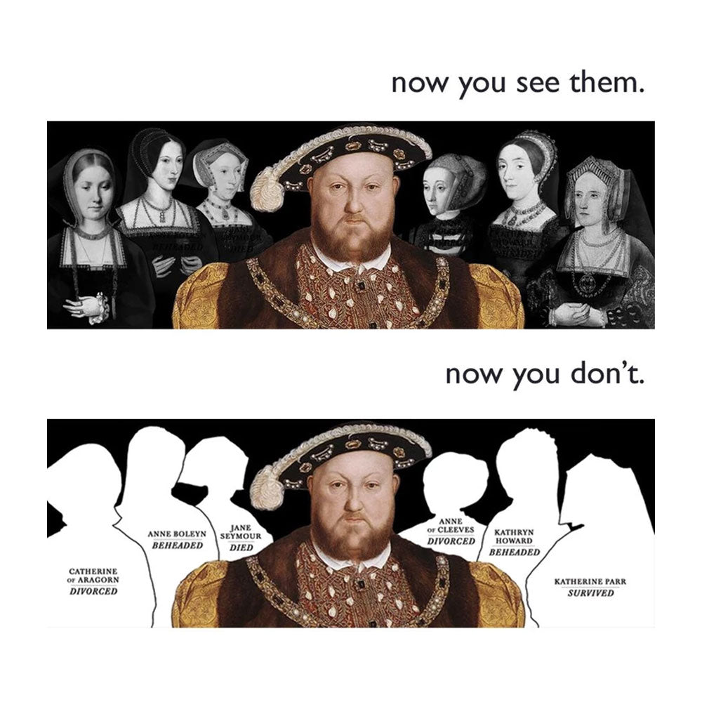 Henry VIII Disappearing Wives Mug