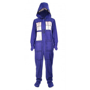 Doctor Who: TARDIS Adult Onesie with Removable Feet