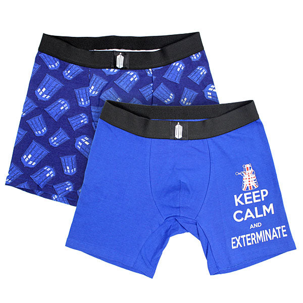 Doctor Who:  Keep Calm and Exterminate Boxer set