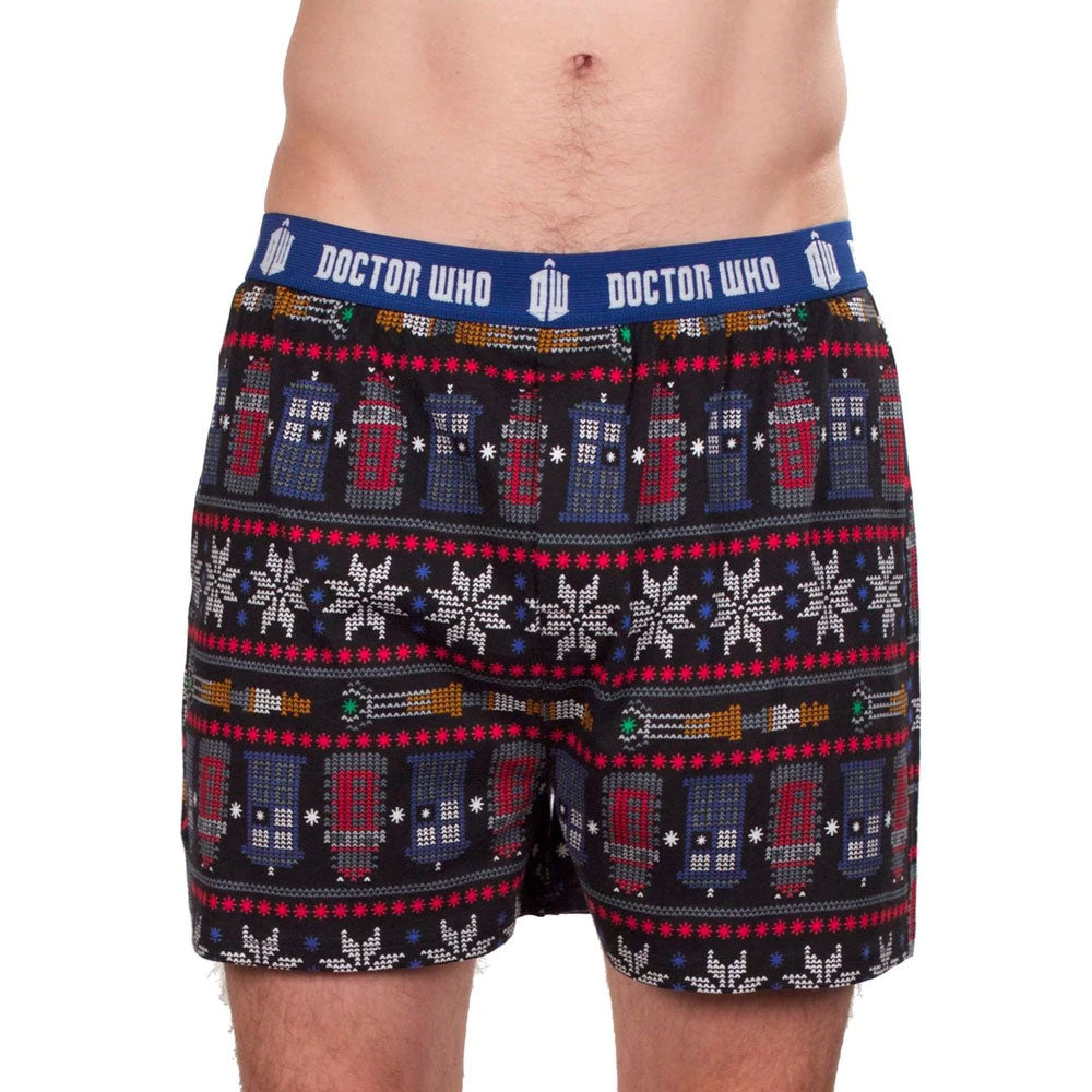 Doctor Who: Snowflake and Ornament Boxer