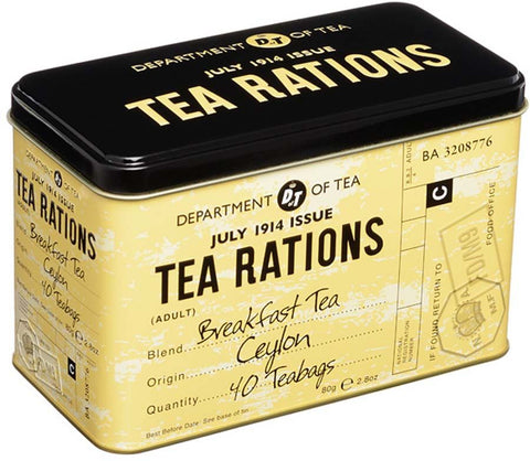 Wartime Vintage Tea Rations Tin