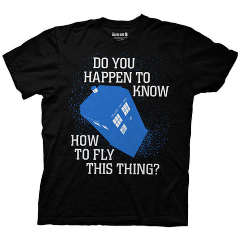 Doctor Who: TARDIS How To Fly This Thing Shirt