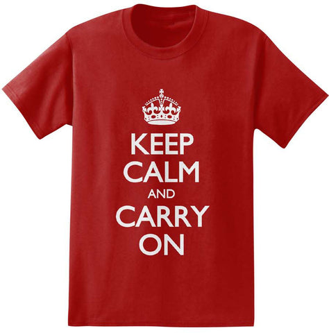 Keep Calm and Carry On T-Shirt: Red