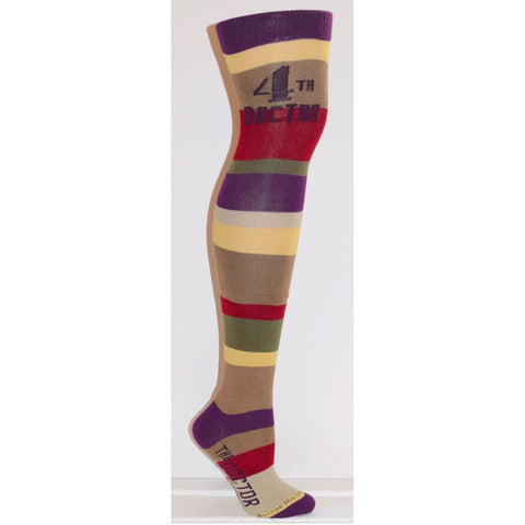 Doctor Who: Ladies Fourth Doctor Stripe Over-the-Knee Socks