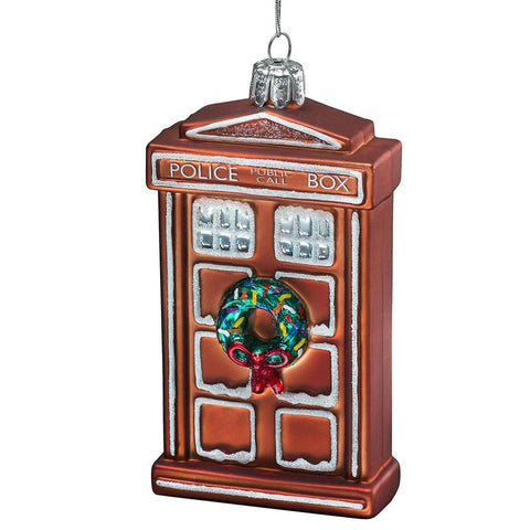 Doctor Who: Glass TARDIS Gingerbread Ornament
