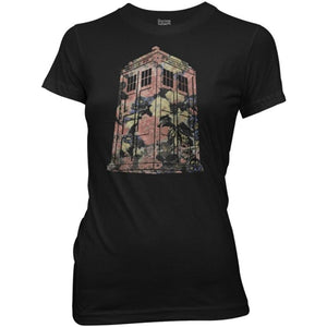 Doctor Who: Ladies Floral TARDIS T-Shirt