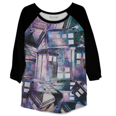 Doctor Who: Ladies TARDIS Raglan T-Shirt