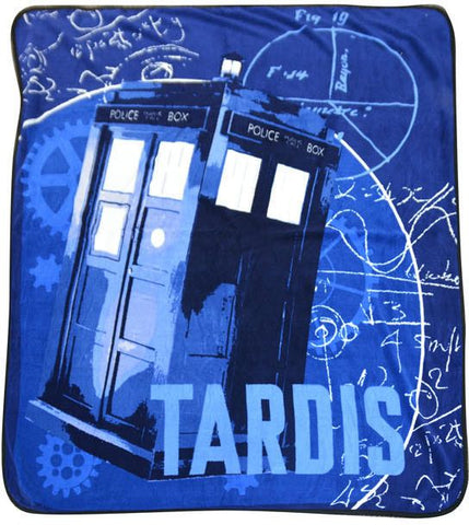 Doctor Who: TARDIS Gears Microraschel Throw