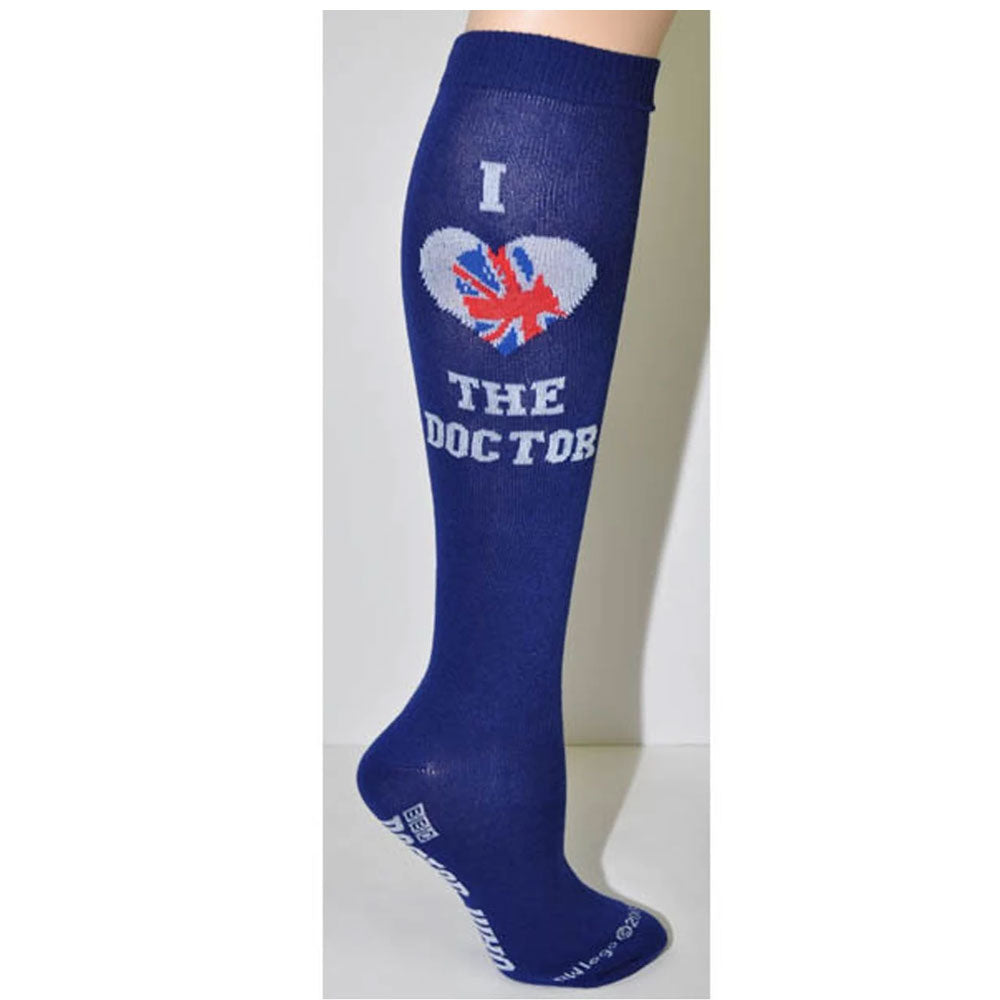 Doctor Who: Ladies' I Heart the Doctor Knee-High Sock