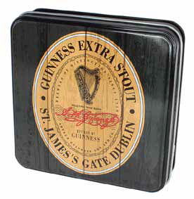 Guinness Luxury Fudge and Vintage-Style Tin: Harp Shield
