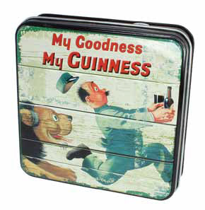 Guinness Luxury Fudge and Vintage-Style Tin: Lion and Zookeeper