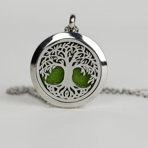 Aromatherapy Locket and Necklace: Tree of Life