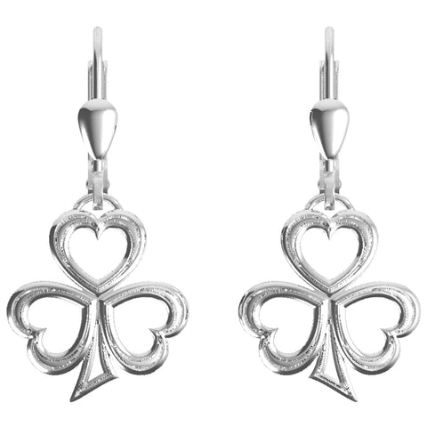 Silver Shamrock Earrings