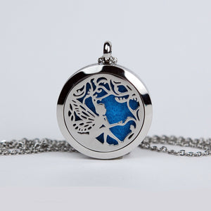 Aromatherapy Locket and Necklace: Garden Fairy