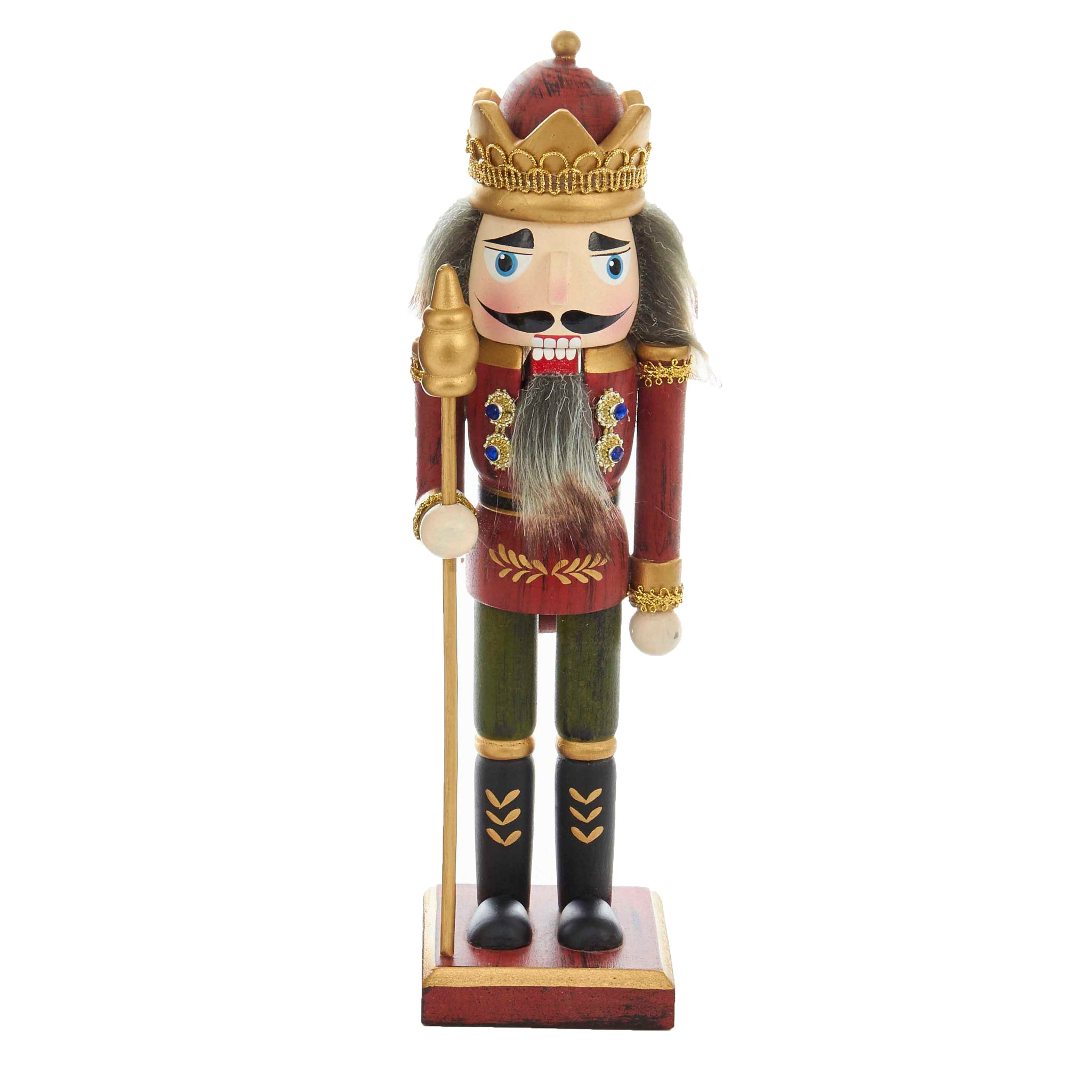 Red Wooden Grain Nutcracker