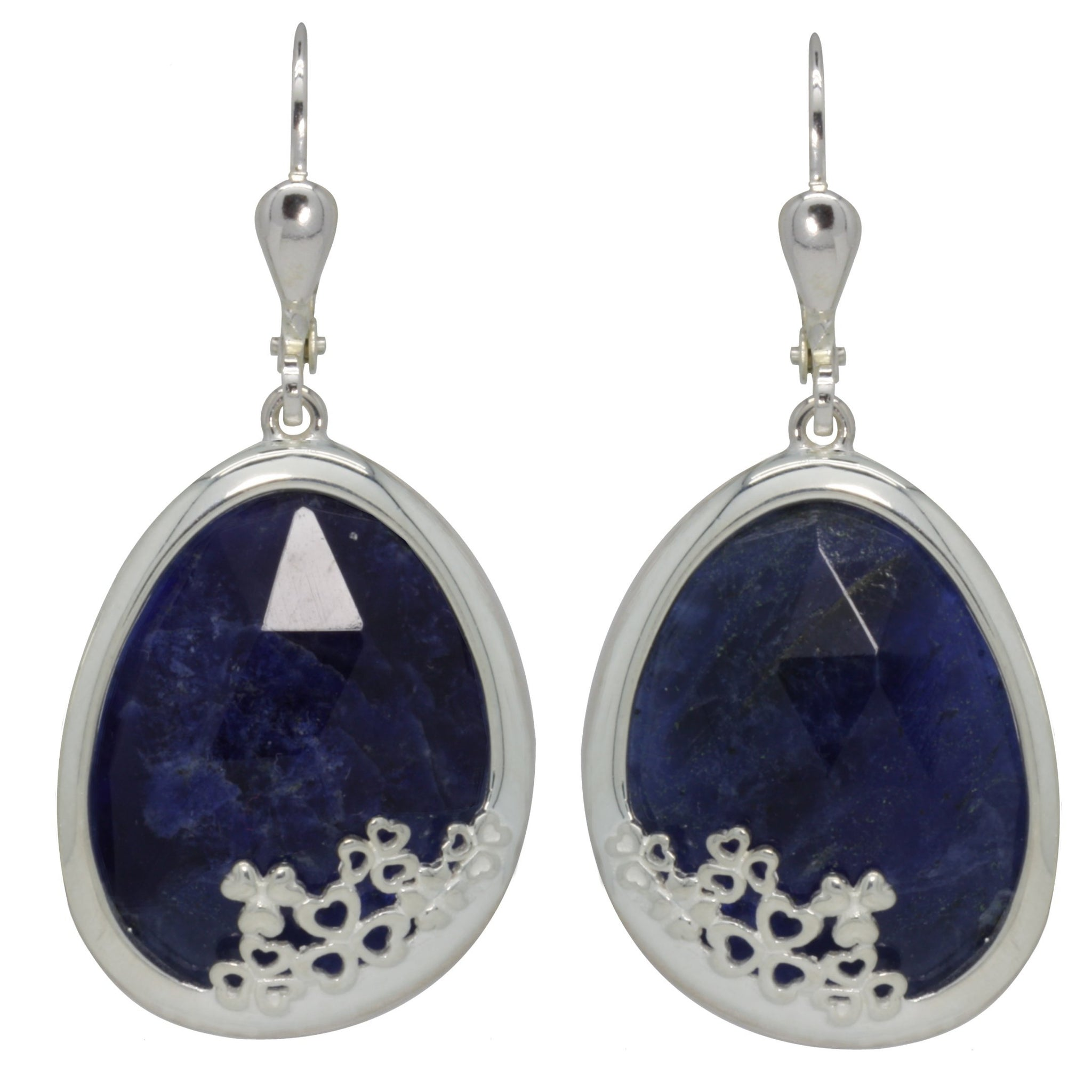 St. Patrick's Blue Shamrock Earrings