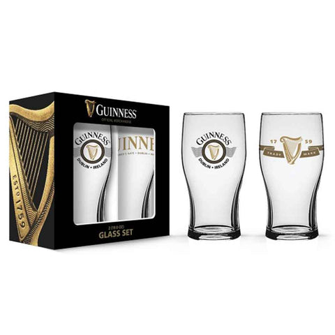 Guinness Harp Imperial Pint Glass Set