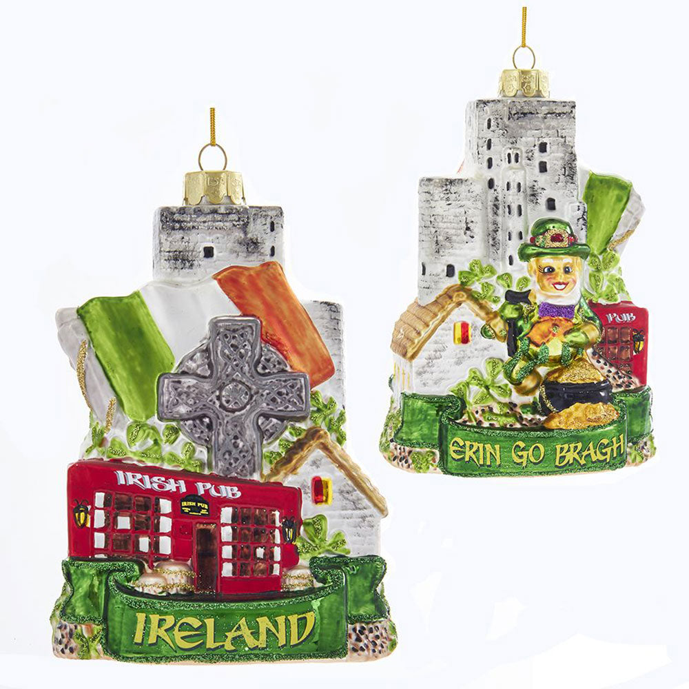 Ireland Glass Ornament