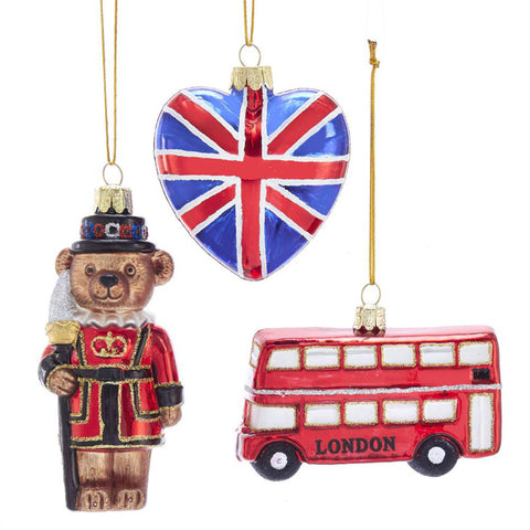 London Glass Ornament Set