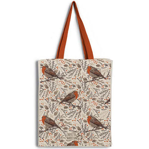 """Robin Redbreast"" Christmas Tote Bag"