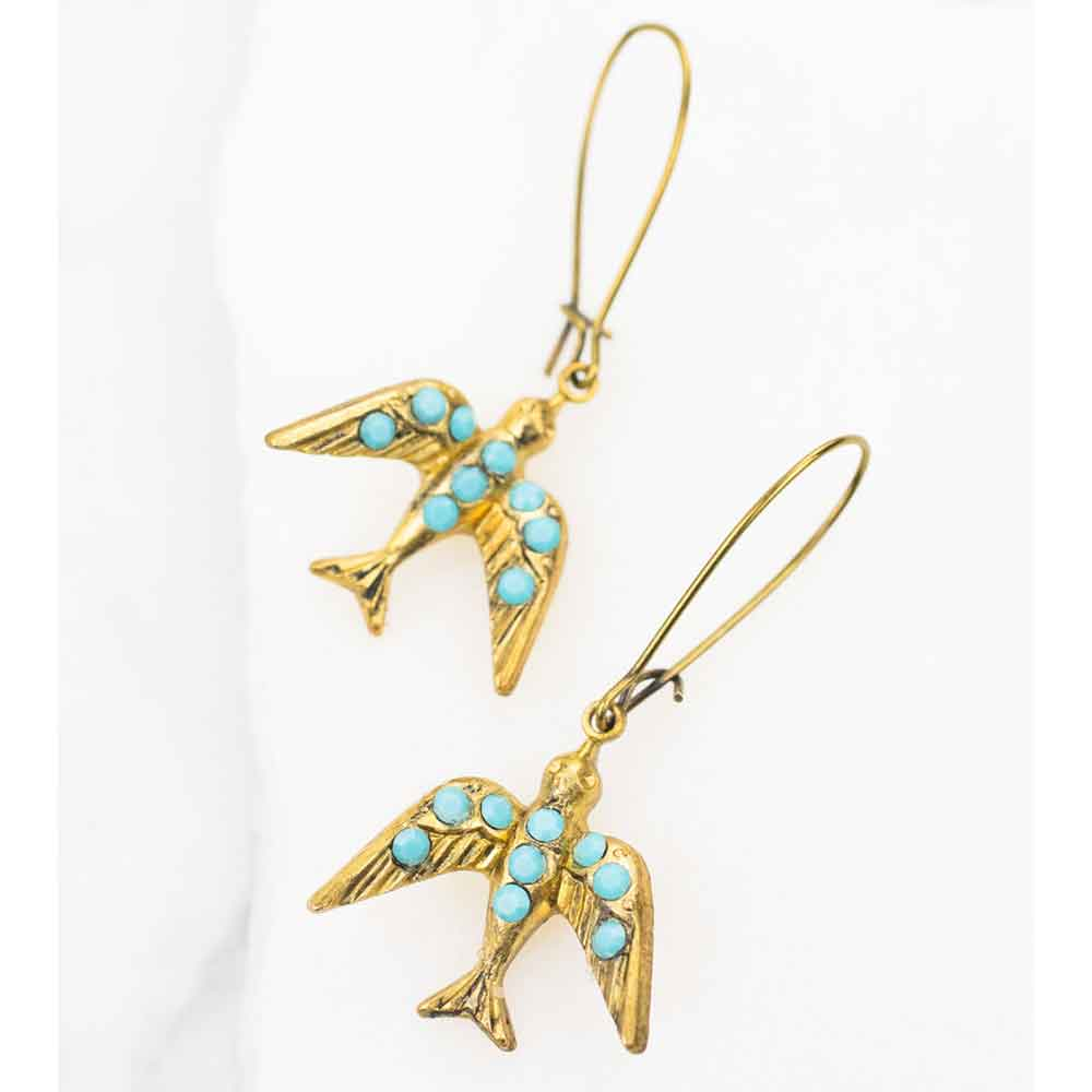 English Swallow Earrings