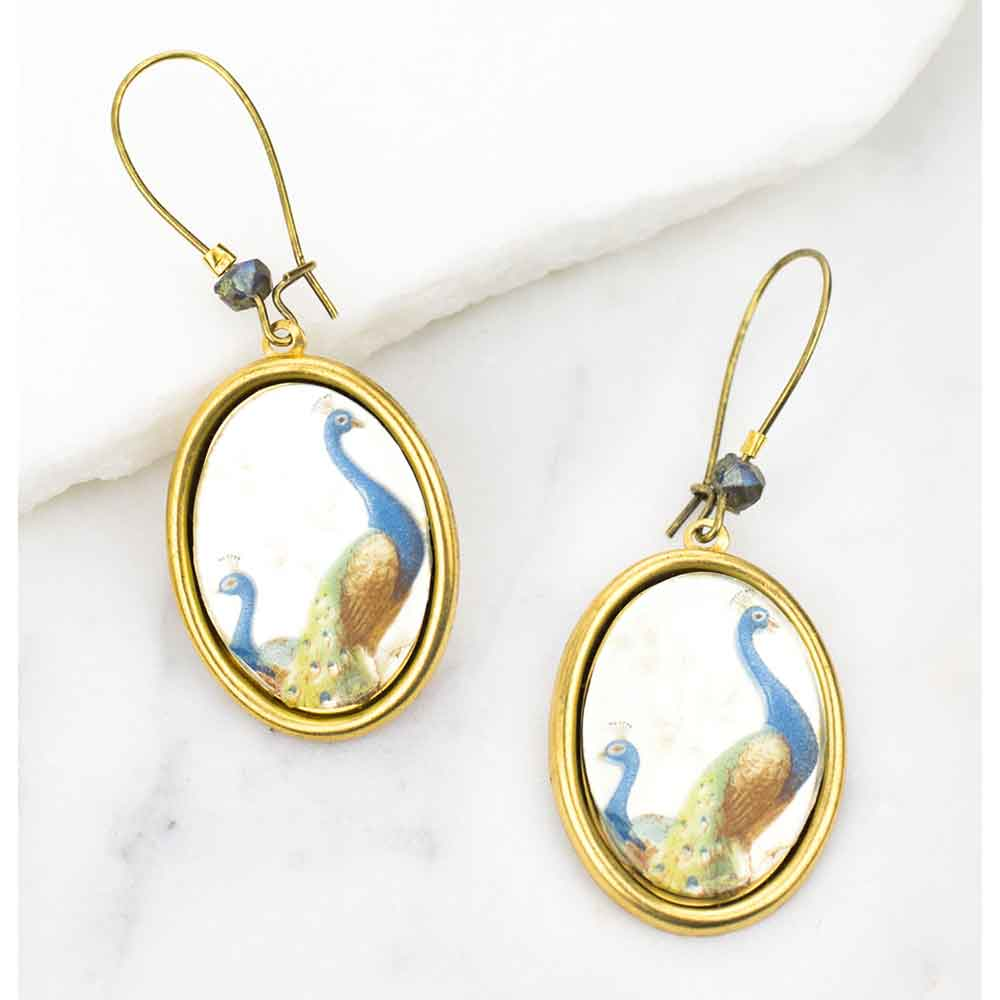 Mirrored Peacock Earrings
