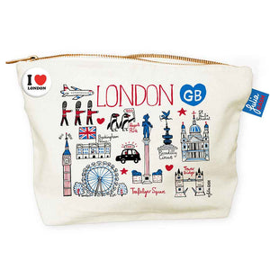 """London Cityscape"" Accessories Pouch"