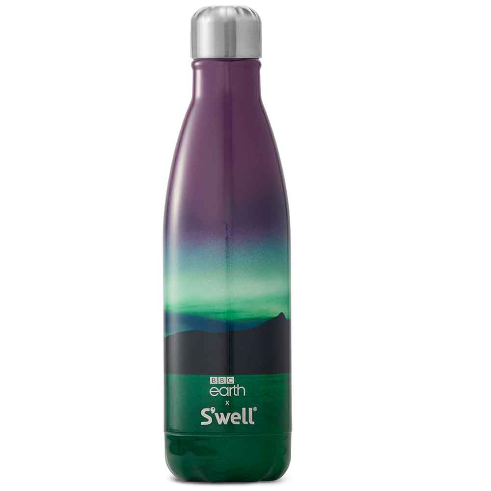 S'well BBC Earth Reusable Water Bottle: Northern Lights