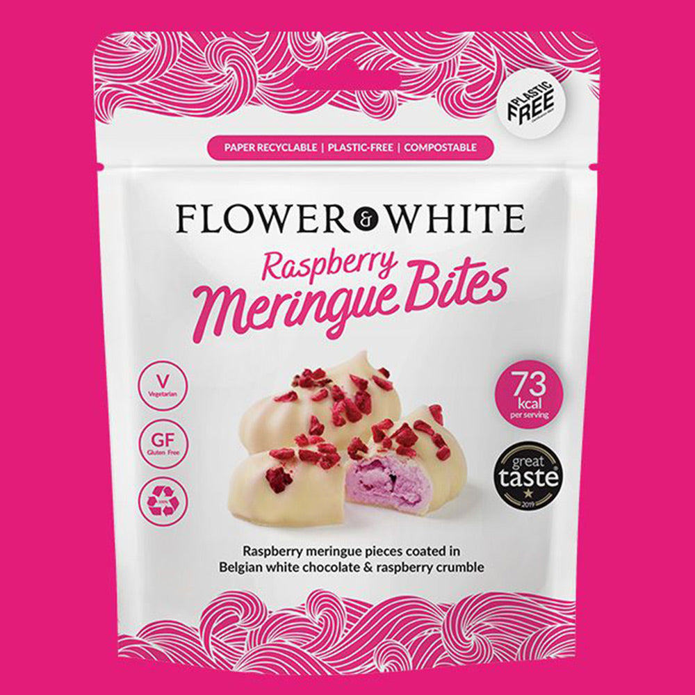 Flower & White: Raspberry Meringue Bites