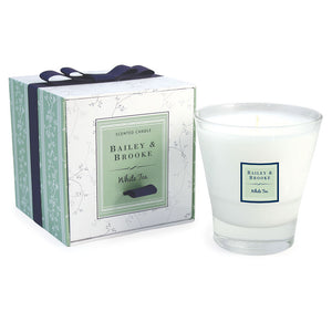White Tea Filled Tumbler Glass Candle