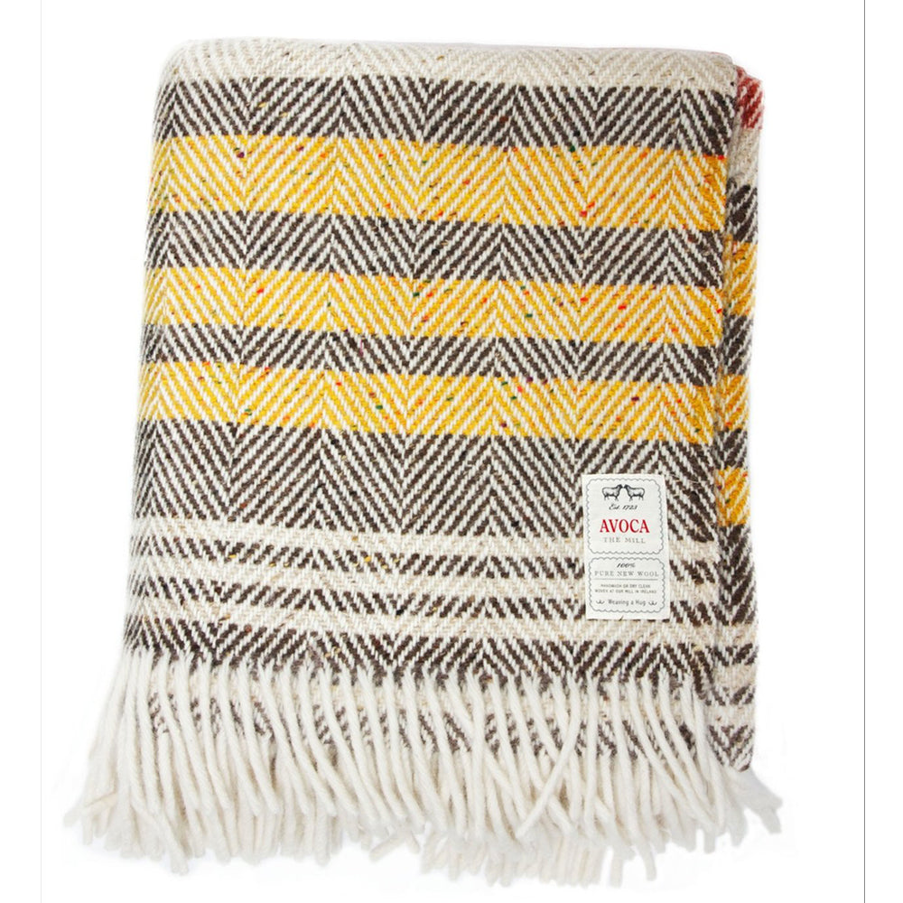 Heavy Donegal Herringbone Throw