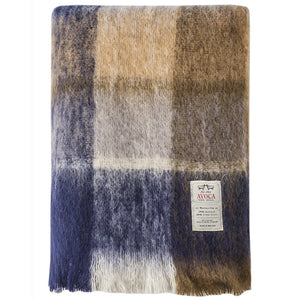 Irish Mohair Wool Throw: Land and Sky