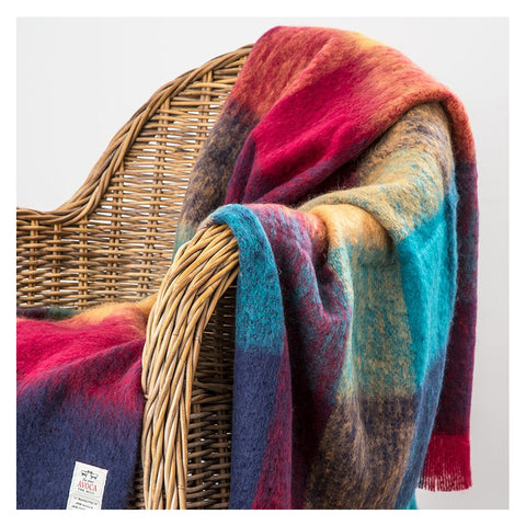 Irish Mohair Wool Throw: Irish Gala