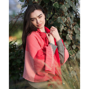 County Wicklow Shawl: Shades of Red