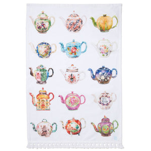 British Teapots Tea Towel