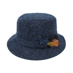 Donegal Tweed Walking Hat: Blue