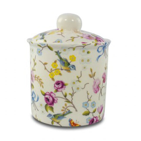 Birds and Blossoms Sugar Bowl