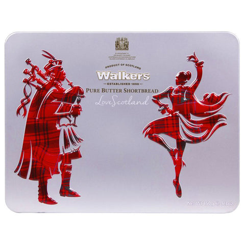 Walkers Shortbread and Highland Tin: Piper and Dancer