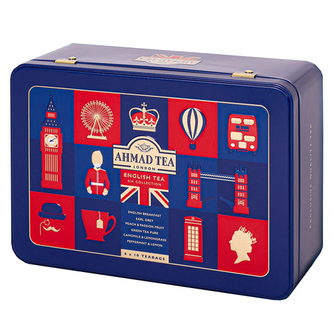English Tea Collection and London Icon Tin: Blue