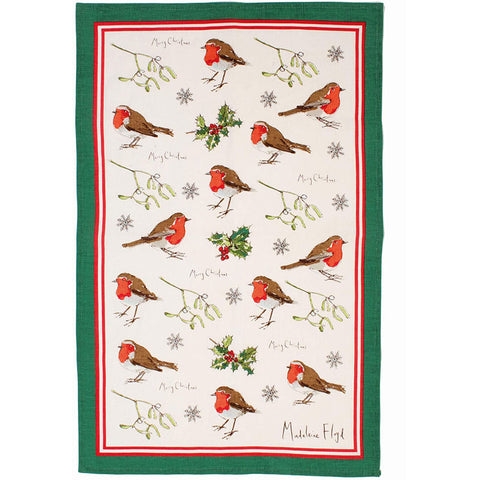 Natural English Christmas Tea Towel