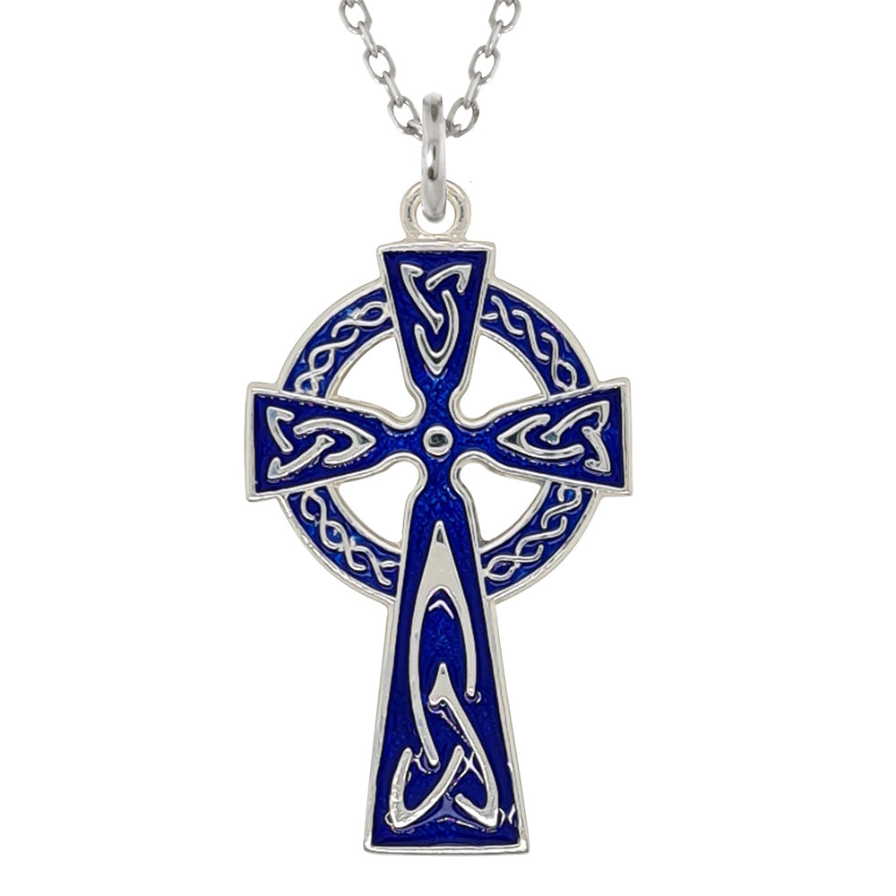 Silver Celtic Cross Pendant and Necklace