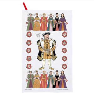 Henry VIII And His Six Wives Tea Towel
