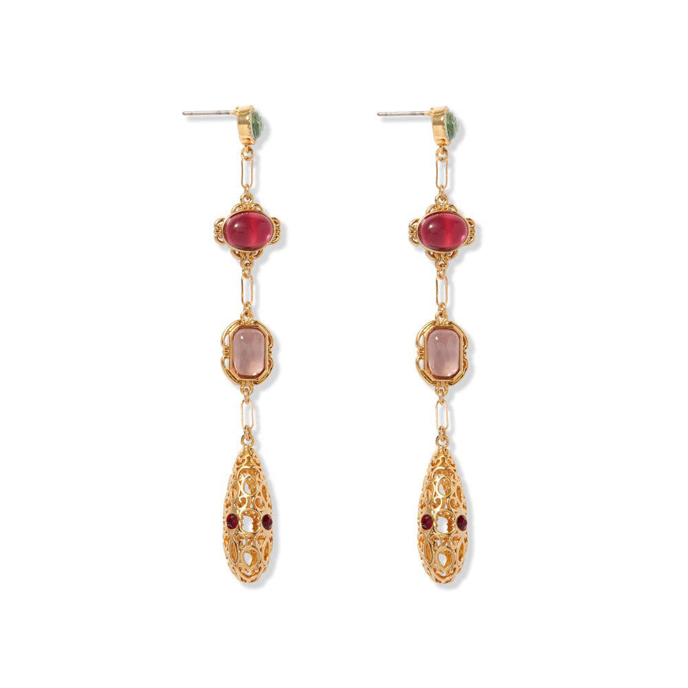 Cascading Gems Drop Earrings